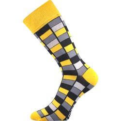 Lonka unisex zokni - Crazy mozaik - sárga
