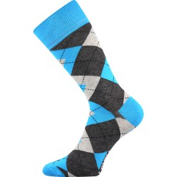 Lonka unisex zokni - Crazy káróminta - kék