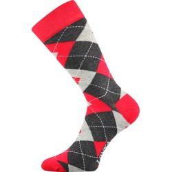 Lonka unisex zokni - Crazy káróminta - piros