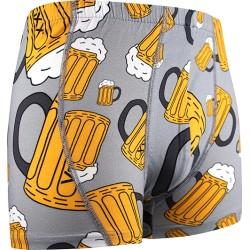 Sör motívumú boxeralsók - sör - világosszürke