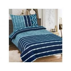 Pamut kétszemélyes ágyneműhuzat - Kék