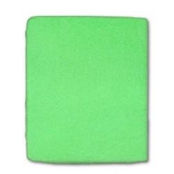 Frottír lepedő kiságyba - zöld