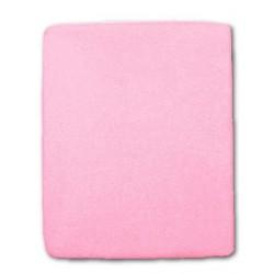 Frottír lepedő kiságyba - rózsaszín