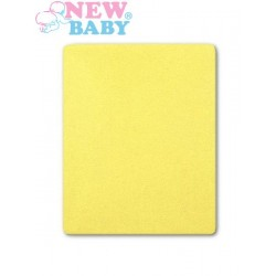 Vízálló lepedő New Baby 120x60 sárga