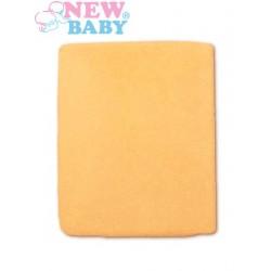 Vízálló lepedő New Baby 120x60 narancssárga