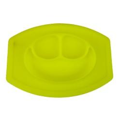 Szilikon tapadós tányér gyerekeknek - sárga