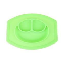 Szilikon tapadós tányér gyerekeknek - zöld