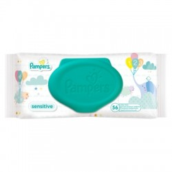 Pampers Sensitive törlőkendő, 56db
