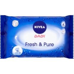 Nivea nedves törlőkendő - Baby Fresh&Pure, 63 db