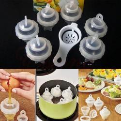 Tojásfőző pohár - 6db + tojás szétválasztó