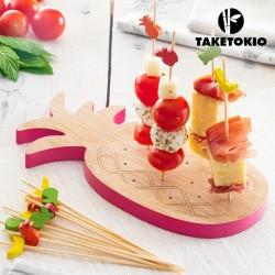 TakeTokio ananász alakú bambusz szett tapas-hoz (16 Darabhoz)
