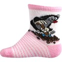 Boma gyerek zokni - kisvakond - rózsaszín
