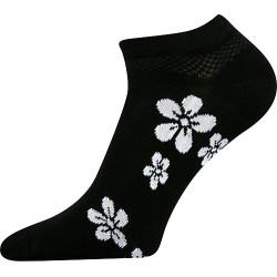 Női bokazokni - Fehér virágok
