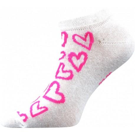 Női bokazokni - Rózsaszín szívek