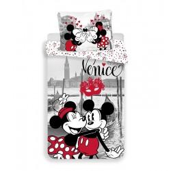 Jerry Fabrics pamut ágyneműhuzat - Mickey és Minnie