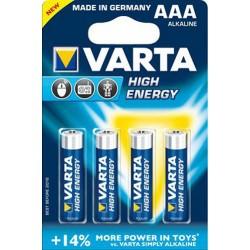 Varta High Energy LR03 1,5V - 4x AAA alkáli elem