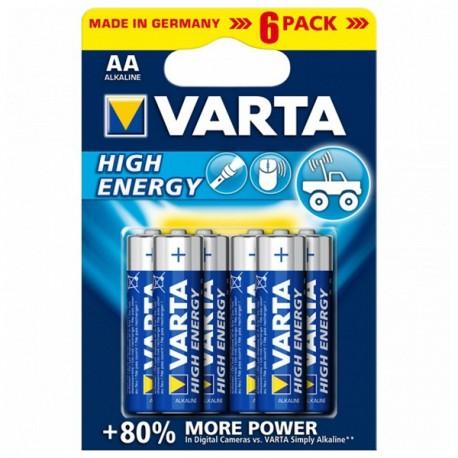 Varta 1,5V High Energy - 6x AA alkáli elem
