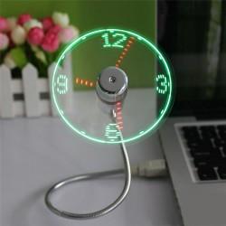USB ventilátor LED órával