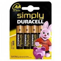 Alkáli elem DURACELL Simply DURSIMLR6P4B, LR6, 1.5V - 4x AA