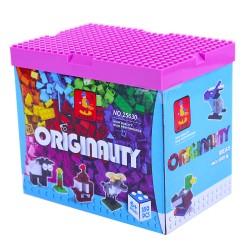 Építőjáték - kockák játék alátéttel - 350 darabos - AUSINI