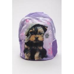 Hátizsák lila kutyával - Junior