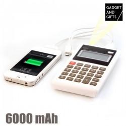 LED számológép powerbankkal - 6000 mAh