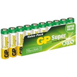 GP Super 24A-2VS10, LR03, 1.5V alkáli elemek - 10x AAA