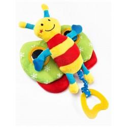 Naučná plyšová hračka - motýlek s pískátkem - Sensillo