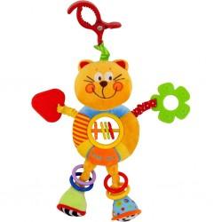 Gyerek plüss játék csörgővel - kismacska - Baby Mix