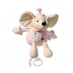 Gyerek plüss játék zenélő készülékkel - rózsaszín egér - Baby Ono