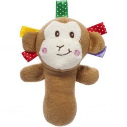 Sípoló plüss gyerekjáték - majom - Akuku