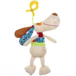 Zenélő plüss gyerekjáték - kutya - Akuku