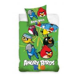 Gyerek ágyneműhuzat - Angry Birds Rio - zöld - 140x200