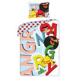 Gyerek ágyneműhuzat - Angry Birds - betűk - 140x200