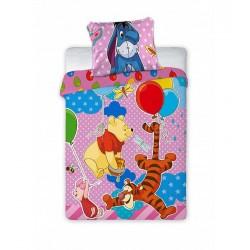 Gyermek ágyneműhuzat - Micimackó - rózsaszín - 100x135