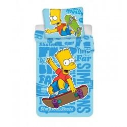 Gyerek ágyneműhuzat - Bart Simpson - kék - 140x200