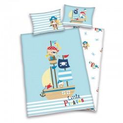 Gyerek ágyneműhuzat - Kis kalózok - 100x135