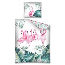 Gyerek ágyneműhuzat - Flamingók - 140x200