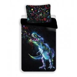 Gyerek ágyneműhuzat - Dinoszaurusz - fekete - 140x200