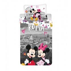 Gyerek ágyneműhuzat - Mickey és Minnie Rómában - 140x200