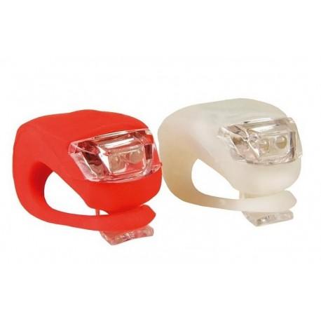 LED kerékpár lámpa - szilikon borítás - 2 db