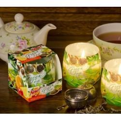 Illatos gyertya üvegben - Zöld tea és gyümölcs, 100g