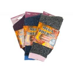 Női MEGA termo zokni W1940 - színes - 1 pár