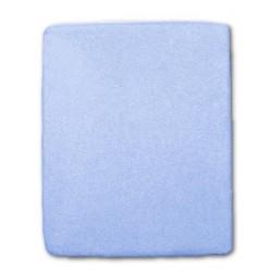 Frottír lepedő kiságyba - kék