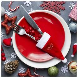 Karácsonyi dísz - sapka - piros