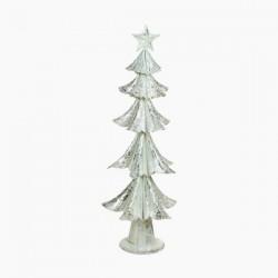 Karácsonyfa - szürke színű vas - 63 x 25 x 25 cm