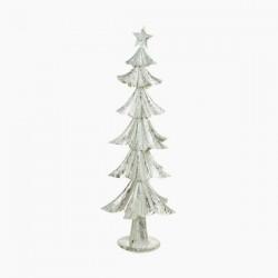 Karácsonyfa - szürke színű vas - 74 x 28 x 28 cm
