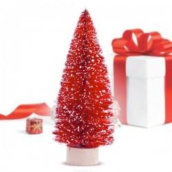 Karácsonyfa - piros - 12,5 x 5 x 5 cm