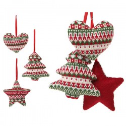 Karácsonyi dísz szalagon - 12 cm