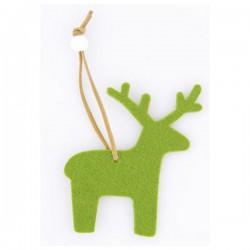 Karácsonyi dísz - zöld rénszarvas